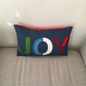 JOY holiday pillow - Brand New!